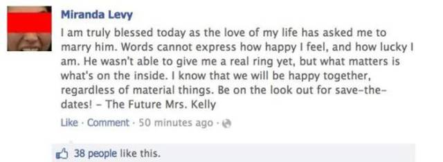 Couple Accidentally Make a Double Announcement while Sharing Their Engagement News Online