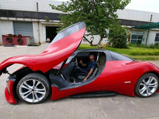 Smart Chinese Engineer Makes His Own Supercar from Scratch