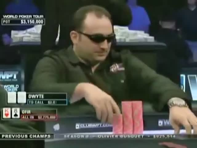 Arrogant Poker Player Completely Jumps the Gun on His Last Hand