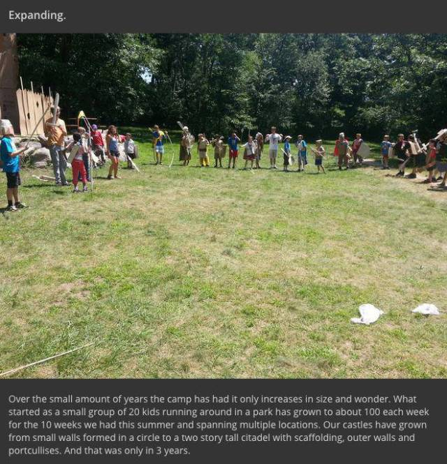 "Kids Engage Their Imaginations to Wage War at ""Cardboard Camp"""