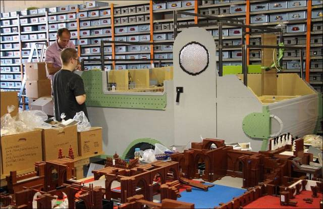 An Impressive Caravan Built Entirely from Lego Bricks