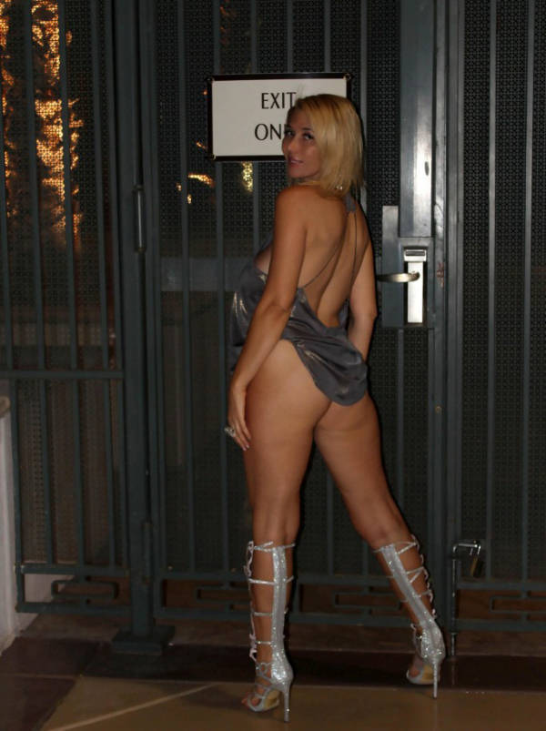 "Russia's ""Lady Gaga"" Shows Off for the Paparazzi"