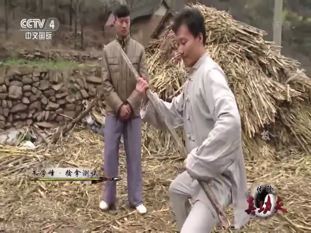 Monk Demonstrates His Super Human Strength Using a Few Big Sticks