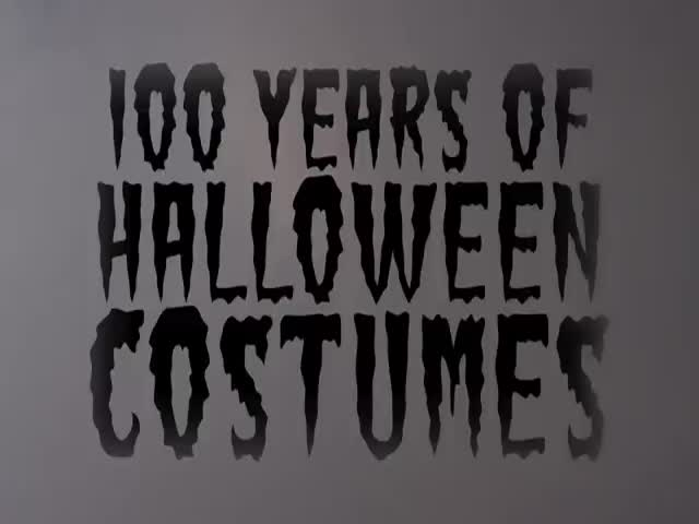 A Three Minute Journey through 100 Years of Halloween Costumes