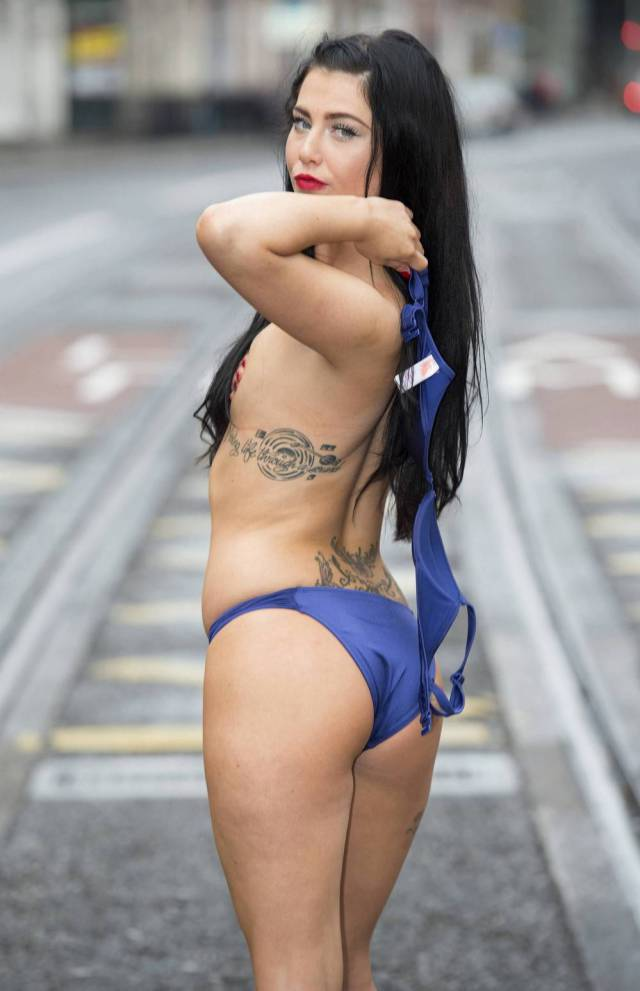 """""""Miss Bikini Ireland"""" Contestants Get Their Boobs Out for a Little Photo Session in the City"""