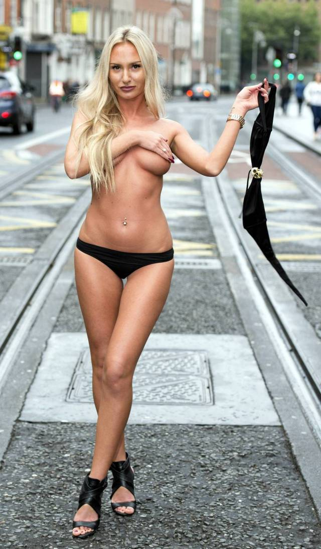 """Miss Bikini Ireland"" Contestants Get Their Boobs Out for a Little Photo Session in the City"