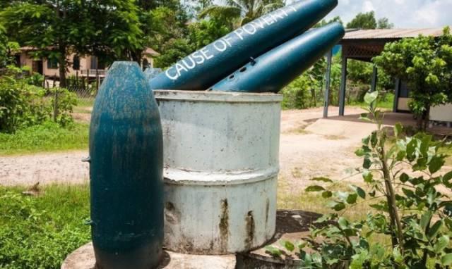 Laos Locals Turn Leftover War Debris into Functional Everyday Items
