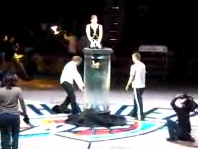 Female Magician Tries a Dangerous Water Trick and Totally Fails