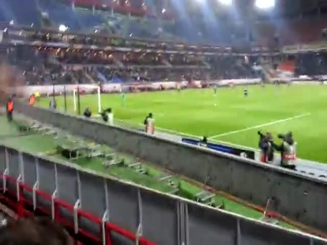 Russian Football Fan Narrowly Escapes Being Caught by Security