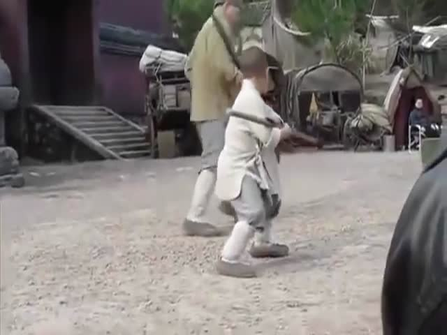 Young Kid Teaches Jackie Chan a Few Shaolin Techniques
