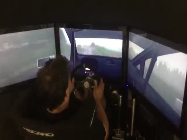 Real Rally Driver Tests a Rally Game and Gets a High Score Too