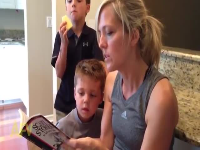 This Kid's Reaction to a Scary Story Is Priceless