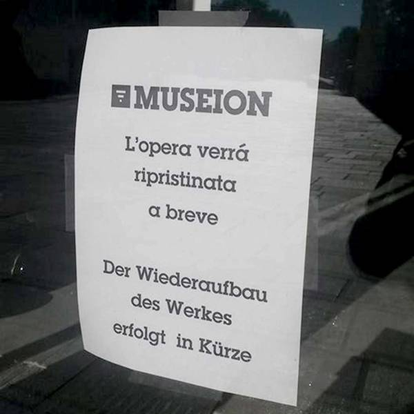 Museum Cleaners Land Themselves in a Big Big Mess