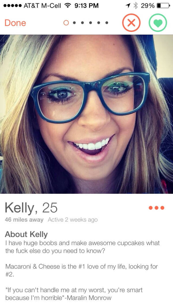 Funny dating profiles for females