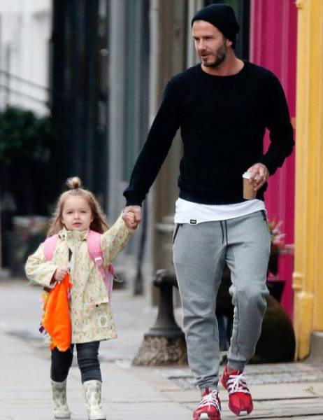 David Beckham Lets His Four Year Old Daughter Design His New Tattoo