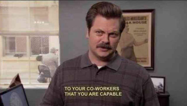 Ron Swanson Is One Very Wise Man