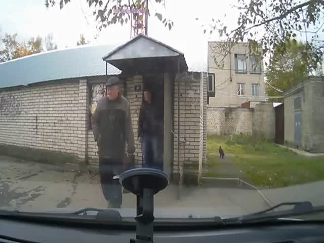 Look Both Ways Before Crossing Sidewalks in Russia