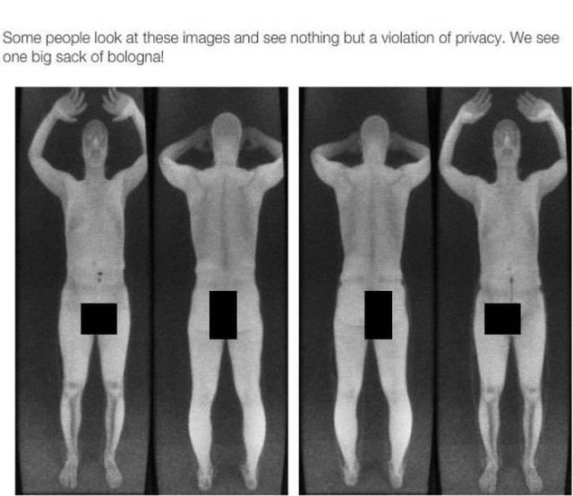 Airport Full Body Scanners Leave Nothing to the Imagination