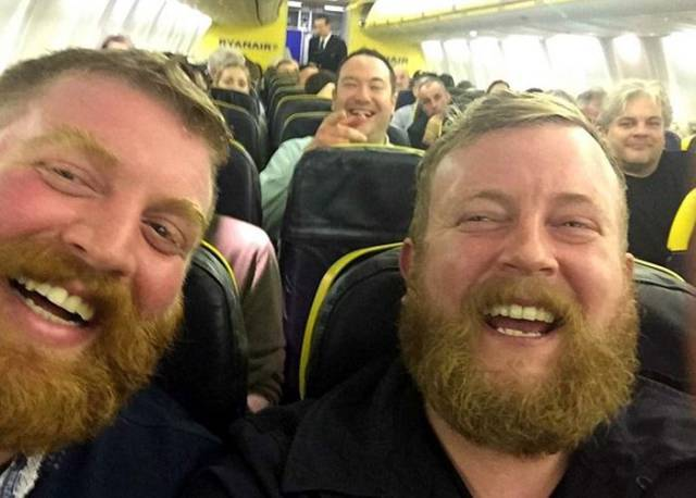 Two Strangers Meet for the First Time on a Flight and They Are Practically Twins