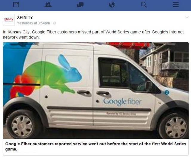 Comcast Takes a Beating Online from Google Fiber Fans