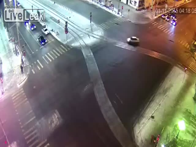Lucky Girls Narrowly Escape Getting Hit by a Runaway Car on a Russian Road