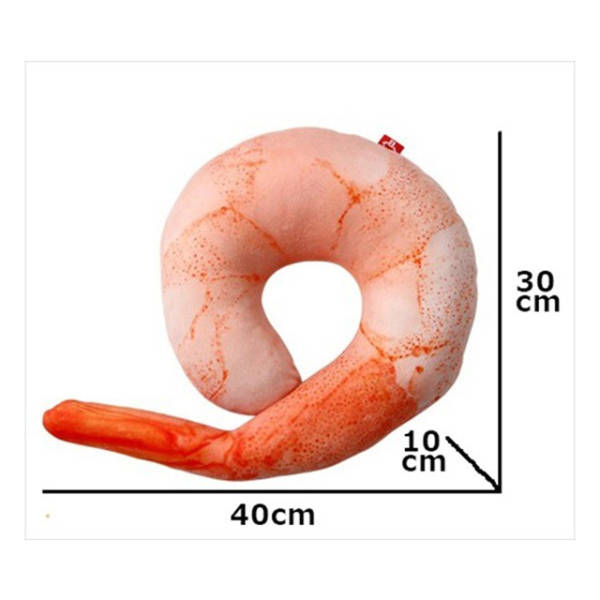 An Inflatable Shrimp Shaped Travelling Pillow That Could Only Come from Japan