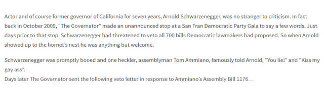 Arnold Schwarzenegger Responds to Haters in a Biting Letter and He Couldn't Have Done It Better