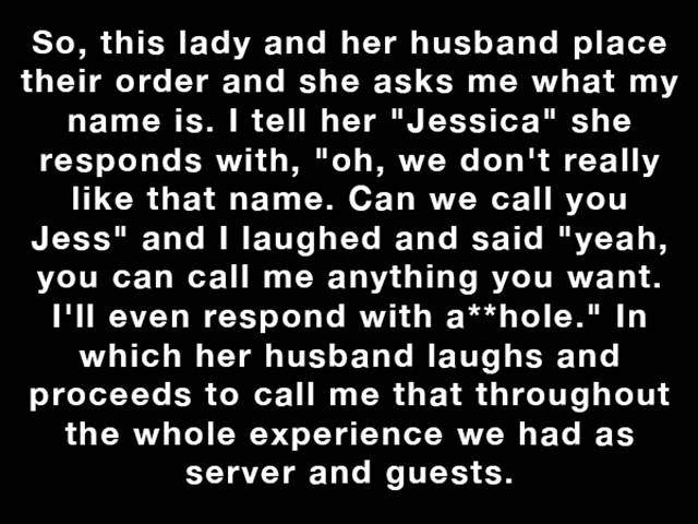 Waitress Gets a Snotty Note from an Insecure Newlywed and Her Response Is Awesome