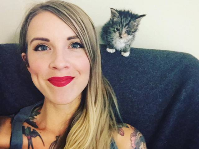 This Sweet Woman Specializes in Saving Kittens