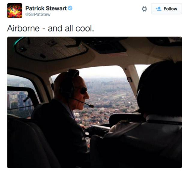 Patrick Stewart Has the Most Amusing Twitter Feed Ever
