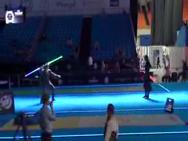 Lightsaber's Add an Edgy Touch to This Awesome Fencing Duel