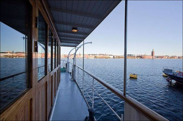 Old Barge Is Transformed into a Stunning Water Home