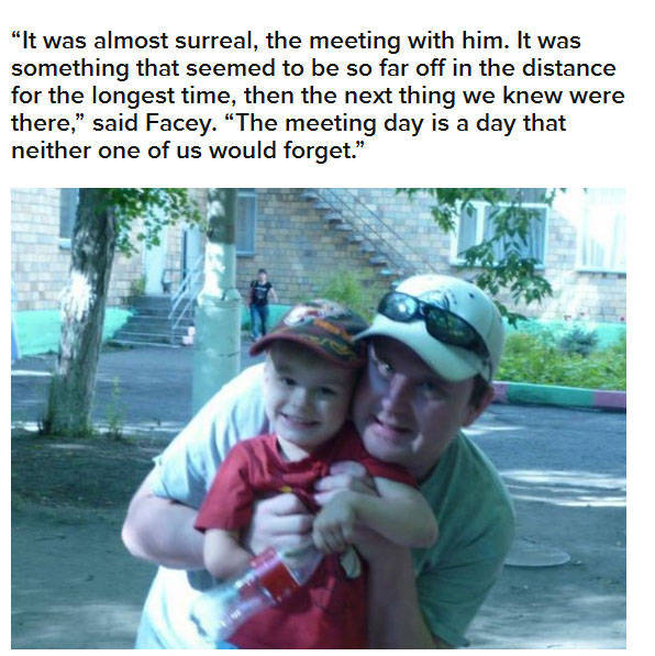 A Touching Meeting between a Young Boy and His New Adopted Grandpa