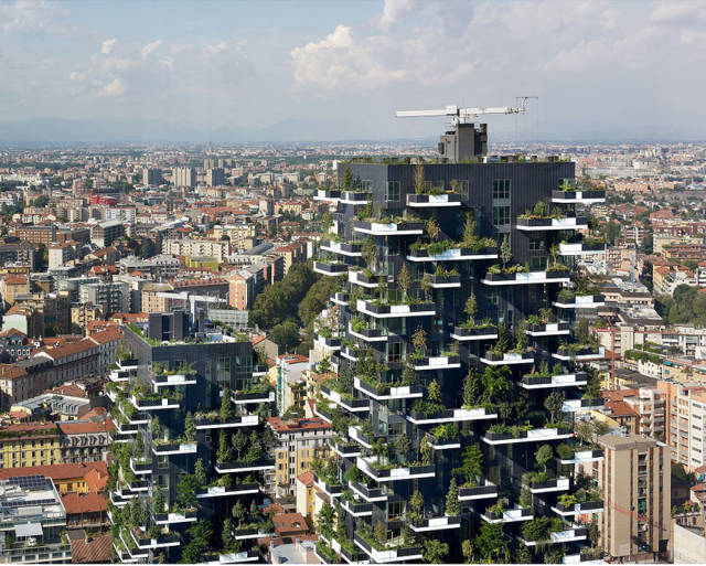 A Towering Apartment Building That Is Completely Evergreen