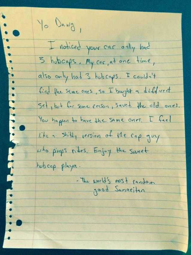 Random Stranger Leaves a Cool but Slightly Odd Surprise on Someone