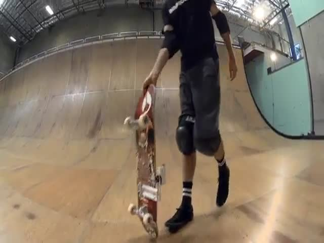 Tony Hawke Sets a Record Run by Skating the First Ever Horizontal Loop on a Skateboard