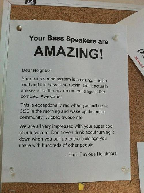 Sadly You Can't Pick Your Neighbors and Sometimes You Get Stuck with Worst Ones Ever