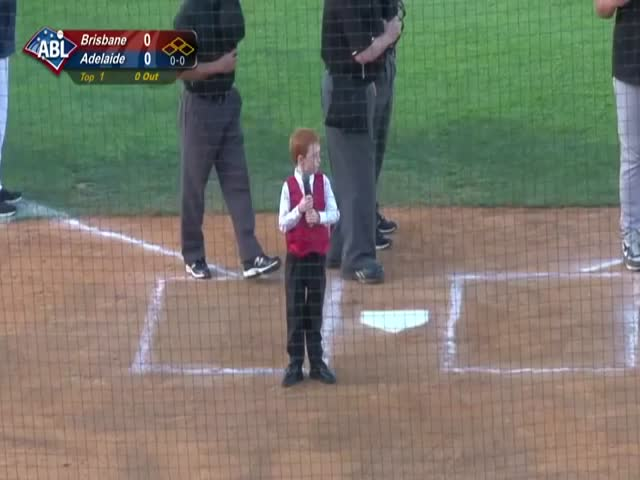 Adorable Kid Gets the Hiccups During His Delivery of the Australian National Anthem