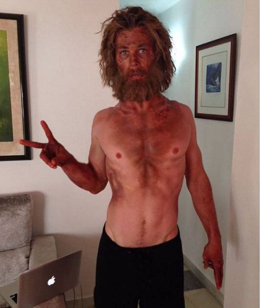 Chris Hemsworth Starved Himself Skinny for His New Film Role