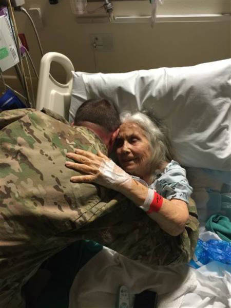 "Soldiers Show Their Love and Affection for the ""Hug Lady"" in Her Time of Need"