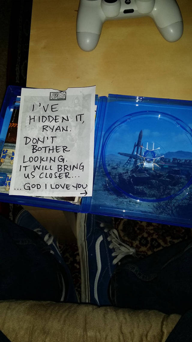 Wife Plans an Elaborate Scavenger Hunt with Her Husband's New Fallout 4 Game