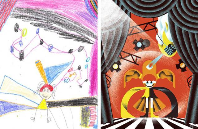 Artists Reimagine Kids' Monster Drawings in New and Creative Ways
