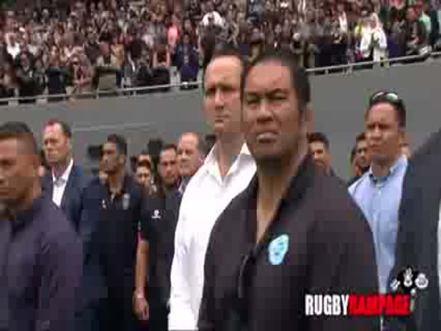 Jonah Lomu's Teammates Perform a Final Haka at His Funeral in Memory of Him