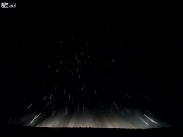 Dude Puts His Car into Hyperdrive on a Dark and Gloomy Night in Minnesota