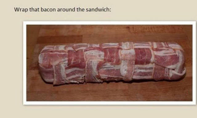 This Bacon Wrapped Pork Baguette Is the Most Delicious Looking Sandwich Ever