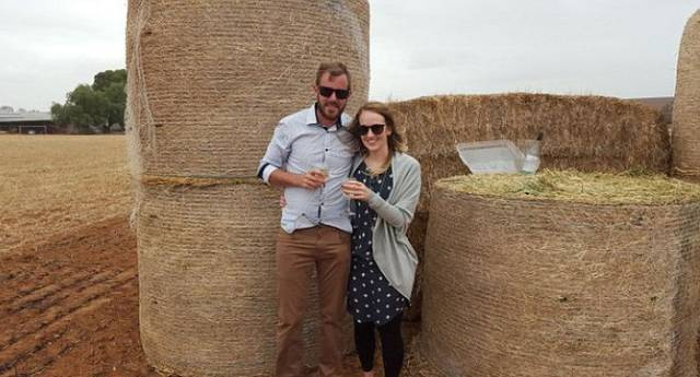 A Romantic and Creative Hay Bale and Helicopter Marriage Proposal