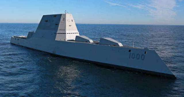 This Gigantic Vessel Is the Largest Stealth Destroyer the U.S Navy Has Ever Built