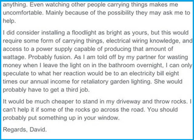 A Flood Light Causes a World of Trouble between These Two Neighbors