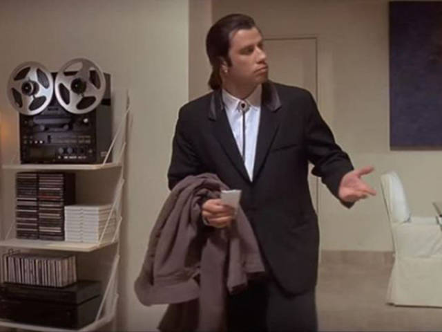 "Pulp Fiction's ""Confused Travolta"" Is Popping Up in GIFs across the Web and They're Hilarious"