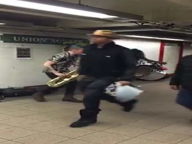 Just a Little Impromptu Jamming Session in the NYC Subway